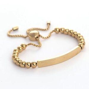 Michael Kors Logo Gold Heritage Beaded Bracelet